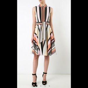 Badgley Mischka Striped Shirtdress, sz 2